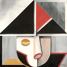 Geometry Sereis Was Inspired By Artists Love Of Clean Lines And Simple Shapes You Will Find The Faces Famous People On Each Painting Through