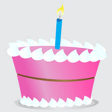 Birthday Cake Clipart Simple vector illustration of a pink