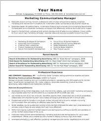Communications Director Resumes Internal Resume Sample