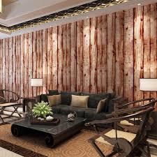 hanmero 3d holz muster retro vintage stil tapete wasserdichte vinyl wandverkleidungen wohnzimmer hintergrund qz0452