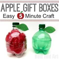 DIY Plastic Bottle Apple Gift Boxes