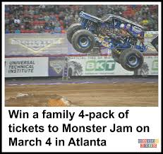 Win A Family 4-pack Of Tickets To Monster Jam On March 4