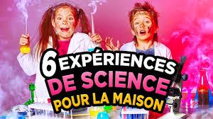 10 experience a faire a la maison 6 experiences de science à faire à la maison