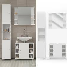 badmöbel set fynn weiß badezimmer spiegel waschtisch unterschrank bad hochschrank