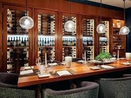 Dining Room Bar Cabinets Custom Wine Overlooking The Restaurant At Salt And