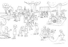 Playground Clipart Coloring Page