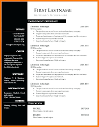 Resume Free Templates Word For Resumes On