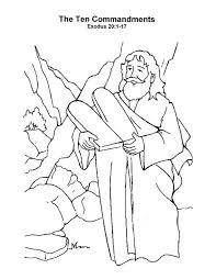 10 Commandments Coloring Pages