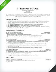 It Resumes Examples Information Technology Resume Sample 2015 Pdf