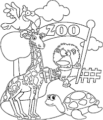 Download Free Printable Zoo Coloring Pages 4 Template For Kids Colouring Sheets Drawing