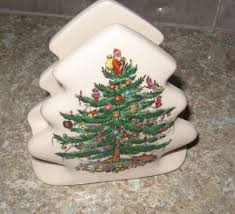 Spode Christmas Tree Mugs With Spoons by Spode Christmas Tree Pattern Napkin Holder Spode Christmas Tree