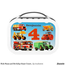 100 Construction Trucks Names Kids Name 3rd Birthday Giant Lunch Box Boys
