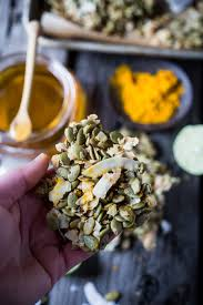 Bigs Pumpkin Seeds Nutrition by Coconut Pumpkin Seed Snacks Feasting At Home