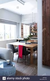 View Into Dining Table And Chairs In Open Plan Kitchen Hong Kong