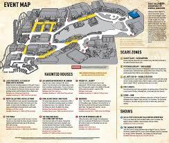 Halloween Horror Nights Florida Resident Code by Halloween Horror Nights 25 Event Map Oh The Places You U0027ll See