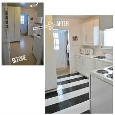 how to lay vinyl black and white flooring in stripes hometalk