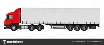 Semi-truck Side View Profile — Stock Photo © Scanrail #181659928