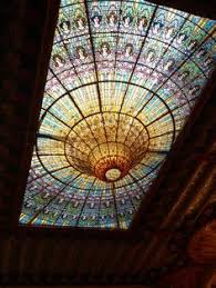 mind blowingly intricate stained glass roof operabuilding in