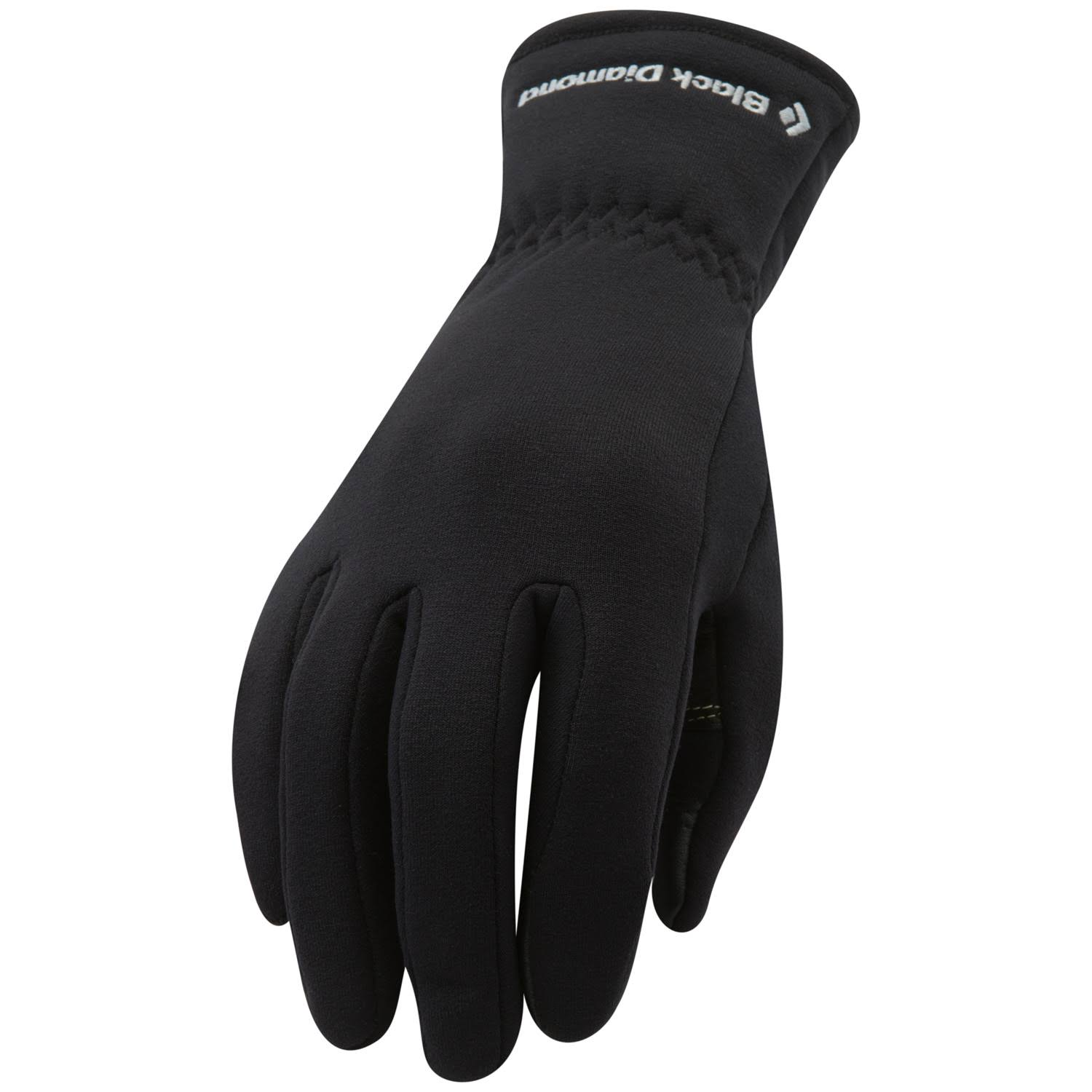 Black Diamond Heavyweight Glove Liners, Black, Medium
