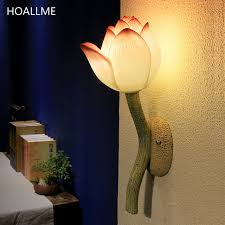 wall l lotus flower wall light restaurant stairways