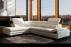 canapé d angle en cuir italien 6 7 places izen blanc mobilier privé