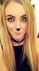 cat contacts pretty kitty makeup idea pairs great with white fx cat