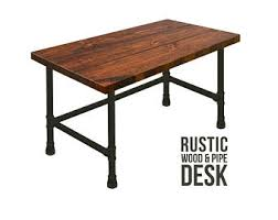 Desk Pipe Industrial Style Chic Rustic Wood Urban