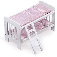 badger basket doll bunk beds with ladder fits most 18