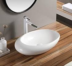 keramik entwerfer waschbecken badezimmer aufsatzbecken aufsatzwaschtisch modern stil waschbecken für das badezimmer weiß form eiform 41 x 30 x 12