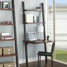 crate and barrel computer desk furniture diy leaning shelf leaning