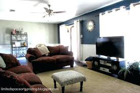 Dark Blue Accent Wall Living Room This