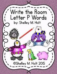 Write the Room Letter P Words by Shelley Bean Designs
