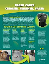 Waste Management Christmas Tree Pickup Schedule by Solid Waste Management Begins Converting Dumpsters To Cart Service