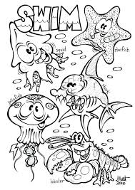 Zoo Animals Coloring Pages Printable Free Preschool Of Ocean Kids Animal Toddlers Paw Print Baby Adults
