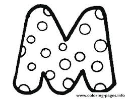 Full Image For Bubble Letter M Colouring Print Coloring Pages O