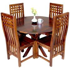 Induscraft Sheesam Wood Dining Table Set - Brown   Dining Table Sets ... Solid Wood Ding Table Fniture And Custom Upholstery By Kincaid Nc Stanley Modern Contemporary Chairs Room Blu Dot 26 Sets Big Small With Bench Seating 2019 Ideas 14 For Your Tables For Spaces Advice Board Before You Buy A Chair The Nook Casual Kitchen Ding Solution From Amazoncom Kitchen Set Of 2 Fabric Upholstered Richmond Handcrafted Rustic 10 Piece Daluwa