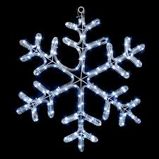 a pretty snowflake that can be used indoors or outdoors to