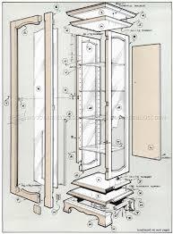 curio cabinet 52 wonderful curio cabinet plans free images ideas