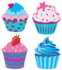 Teal clipart cupcake 15