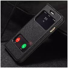 K Cool Double View Window Real Genuine Leather Case for iPhone 6