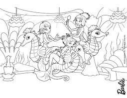 ERIS MERMAID OCEANAs MERMAIDS And SEAHORSES Coloring Page