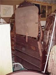 antique tiger oak dresser w mirror