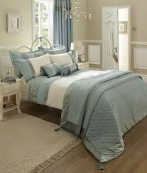 Beautiful King Size Duck Egg Luxury Bedset Duvet Cover And Pillowcases Bedding