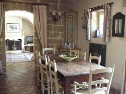 Rustic Farmhouse Dining Room Design With Country Style Sets And Old Wooden Table Combined White Ladder Chairs Plus Exposed Brick