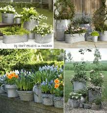 Chic Rustic Galvanized Buckets Made Of Metal For Plant Bucket Ideas
