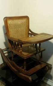 Antique Rocking Chair With Cane Seat And Back.Antique Cane ...