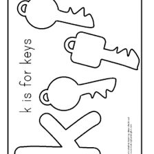 Key Outline Coloring Page Kids Drawing And Pages Marisa