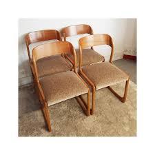 chaise traineau baumann suite de 4 chaises traîneau baumann en hêtre 1960 design market