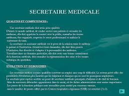 fiche metier secretaire medicale les metiers du secretariat ppt télécharger