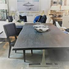 100 Living Room Table Modern Dining In Grey Oak With Live Edge